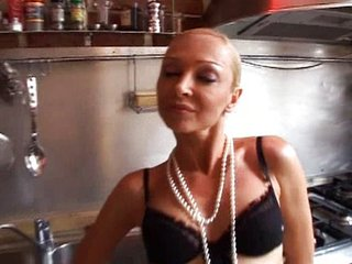 Nomi - French Milf Gangbanged in the Kitchen