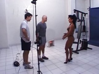 Miss French Fitness fucked by two guys