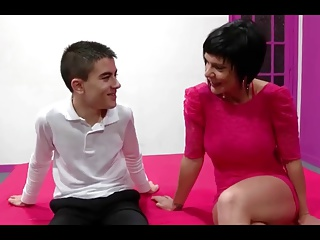 Spanish Milf Short Barb Together with  Young Small fry