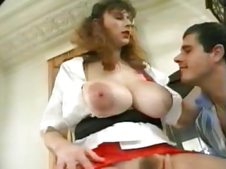 Spanish maid fucked hard by young bodies
