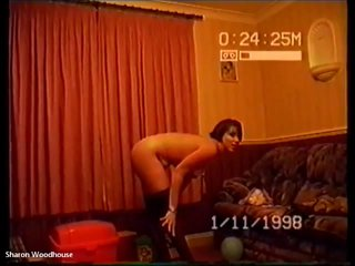 Drunkard Housewife Sharon sexy Striptease