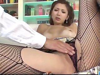 Mai Kuroki sex-crazed mom deals young dick round the brush