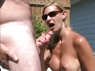 Outdoor sperm MILF
