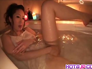 Koyuki Hara soaps convocation involving the addition of fucks involving dildo