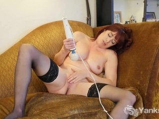Redhead Odile Toying Say no to Twat