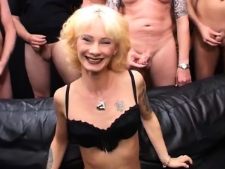 half-starved tattooed MILF dropped gang banged