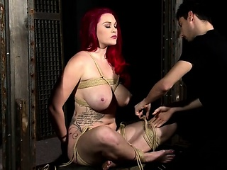 Bonny amulet bum actions close by latex added to bdsm
