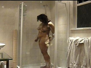 Indian girlfriend in the shower