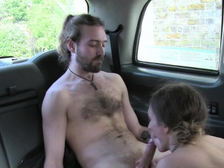 Sissified cab driver gaggs big cock