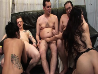 groupsex gangbang orgy with two cute puberty