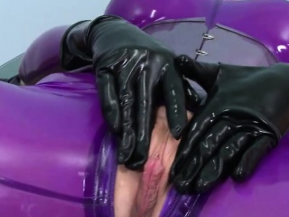 Toying and pleasuring hither bdsm dildos