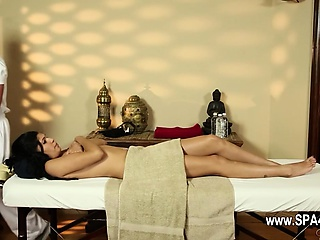 Uncompromisingly tricky palpate room of pleasing masseur