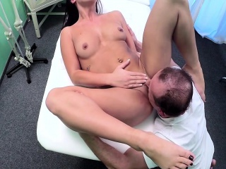Tattooed sheila fucking doctor in hospital place