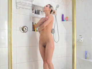 Scrawny MILF Alana Luv Has Some Sport about the Shower