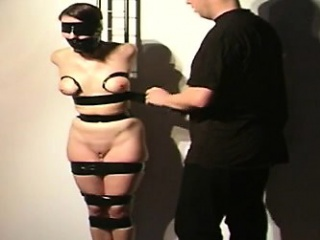 Streetwalker gets the brush titties bound and the brush mouth gagged!