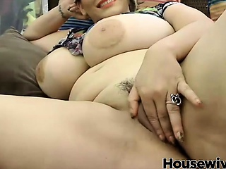 cuban girl nigh a really big tits play nigh the brush delicacy pussy