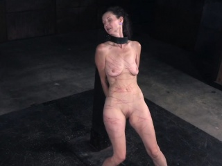 MILF battle-axe flogged with an increment of clit toyed unconnected with maledom