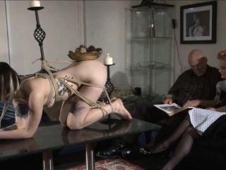 Pretty amateur lezdom binds say no to goth sub with rope