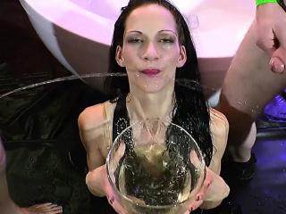 Skinny Brunette Pioneering Piss Lover - 666Bukkake