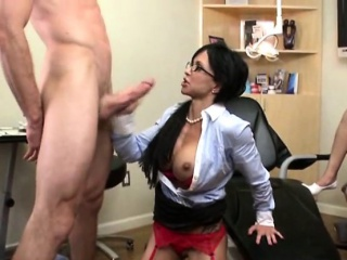 Busty Dentist Loves Anal And Facial Distance from Her Proves