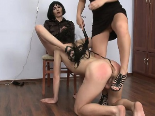 Brian makes dominating pussy violate inch a descend