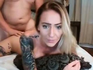 Tow-headed milf full tattooed attracting hard in puss