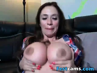 Big milky milf as though to play with will not hear of chunky tits
