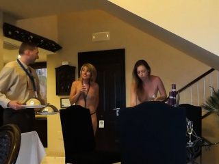 Naked roomservice untrained mama and Ressie from 1fuckdatecom