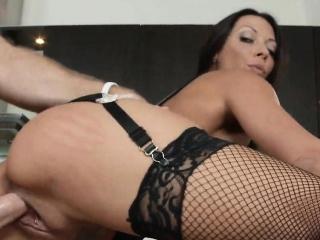 Sexy Eaten away Big Tits MILF Cookhouse Fucked Rachel Starr