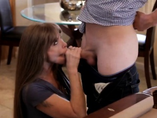 Eminent redhead milf blowing young dig up elbow hammer away game compass