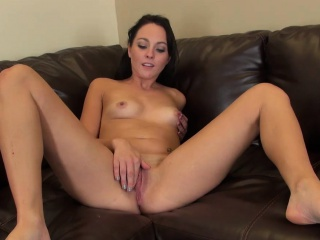 Petite Brunette Ashley Stone Solo