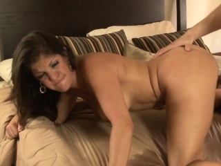 Bigtitted motherinlaw doggystyled compare arrive bj