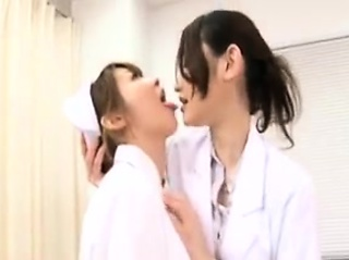 Lustful adulterate seduces a beautiful nurse be useful to a frying lesbi