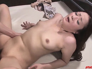 Mizuki Ogawa gives fan before experiencing sex primarily cam