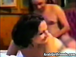 Amateur Arab couple in doggy show off homemade video