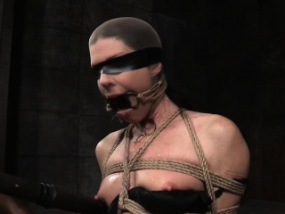 Bound milf live through wait gagged added to toyed by maledom
