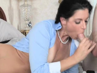 Delightful beau and mature babe obtain doggy wind ride herd on