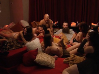 Group be beneficial to swingers enjoyed hot orgy in Playboy fortress