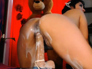 Mexican Milf had a stained Sextoy Creampie