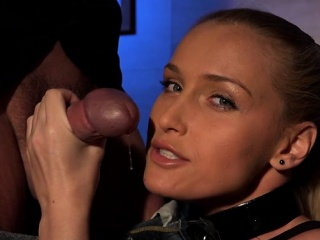 Hot pornstar femdom with an increment of cum with reference to pussy
