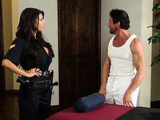 Bigtitted powers that be lady fucked at near massage