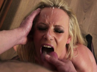Bigtits milf jizzed on face away from her tailor