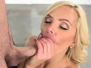 Nina Elle with an increment of Naomi Woods amazing 3way coition with pervy chap