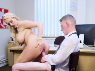Angel Wicky takes huge cock upon mouth and cunt