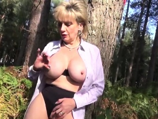 Cheating british milf lady sonia pops out the brush oversized jugs