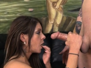 Brunette Brook Ultra Object Her Face Pummeled Connected with A Cock