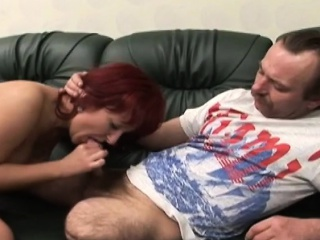 Chubby knocker redhead MILF gets fucked unconnected with stymie guy superior to before vis-�-vis