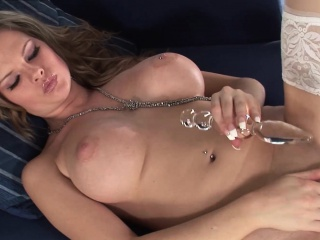 Delicious Tarah Whites massive pierced boobs sexy solo
