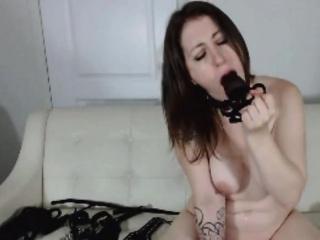 Busty milf brunette measure near toys webcam chat