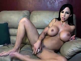 Busty milf masturbating around many dildos - viewcamgirls,com